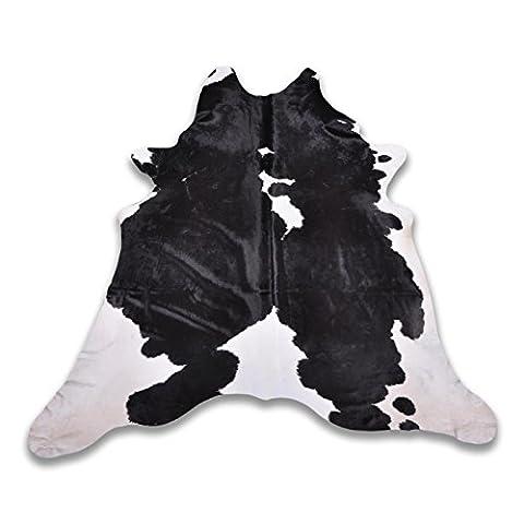 Five Grain Cow Hide–Various Colours & Sizes, black white, L 260 x B 235 cm