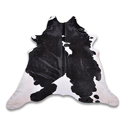 Kuhfell 4390 schwarz weiß 260 x 235 cm