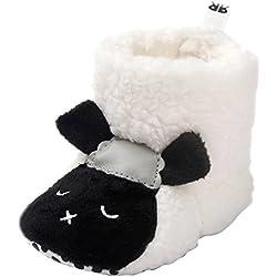 EOZY-Scarpine Stivali Bimbi Morbide Peluche Scarpe Bambini Primi Passi Fumetto Pecora Bianco Lunghezza Interna 11cm