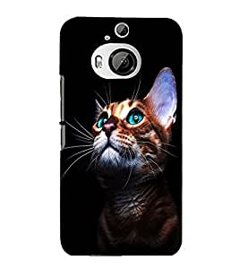 printtech Green Eyes Cute Cat Back Case Cover for HTC One M9+::HTC One M9 Plus