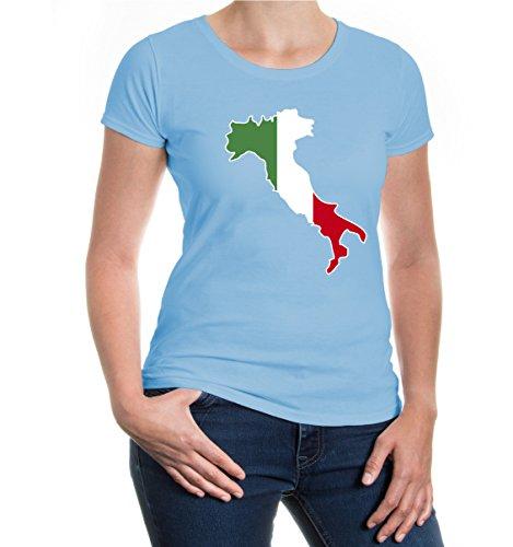 buXsbaum® Girlie T-Shirt Italien-Shape Skyblue-z-direct