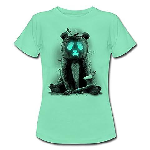 Halloween Panda Frauen T-Shirt von Spreadshirt®, XXL, dunkle