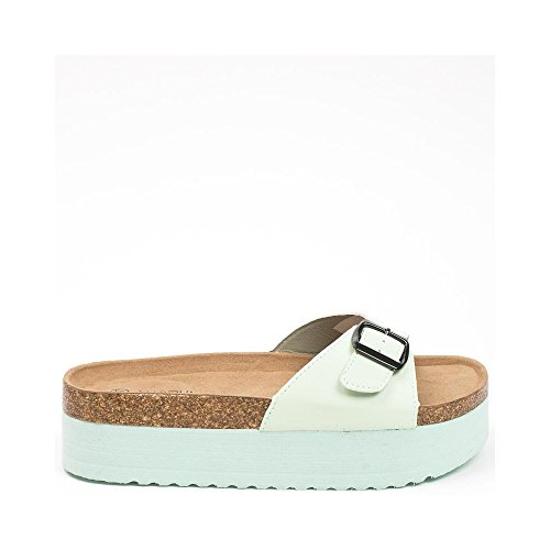 Ideal Shoes ,  Infradito donna Verde