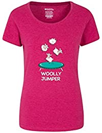 Mountain Warehouse Woolly Jumper II Womens Tee - Fast Dry Ladies Tshirt, Breathable, Lightweight Summer Top, Quality Print, Fast Wicking -for Travelling, Backpacking, Gym