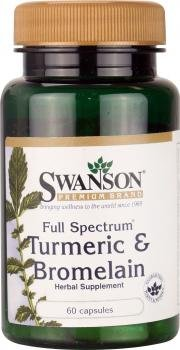 Swanson Turmeric and Bromelain (60 Capsules) by Swanson Health Products