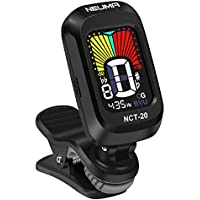 NEUMA Guitar Tuner Clip on Chromatic Digital Electric Tuner for Acoustic Guitar, Bass, Violin, Ukulele, Mandolin, Battery Included