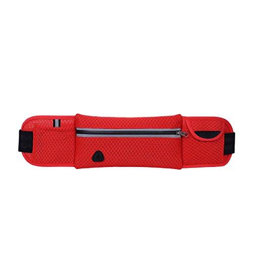 Outdoor Sport Fitness Multifunktions Arm Tasche Geldbörse Mehrfarbig Red