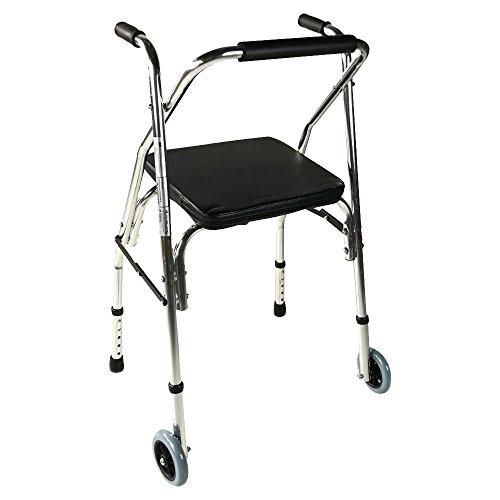 Andador plegable | Modelo Compostela | Aluminio | Altura regulable 83,5-93,5 cm | Asistencia de movilidad