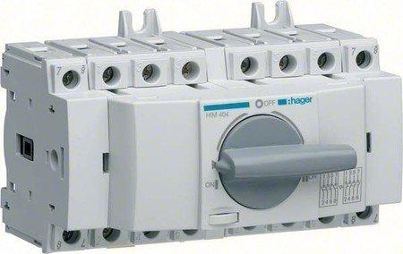 Hager HIM404 Lastumschalter 4P 40A (40 Wasser-heizung-gas)