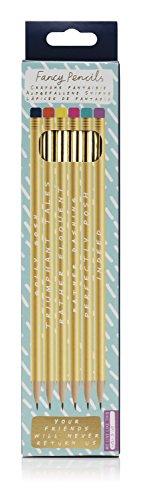 NPW NPW57041 HB Stifte Set zum Schreiben und Skizzieren - 6 Bleistifte Note To Self