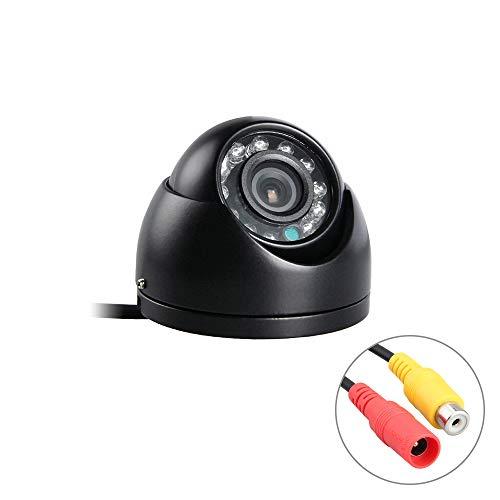 XFGBTJKYUT AHD Indoor-Metall-MINI-Schwarz-Dome-Kamera, Farbe-IR-Nachtsicht-Auto-Frontkamera für LKW-Bus-Mobile-DVR, 12V (Edition : AHD 2.0MP, Interface : AV-3.6mm) -