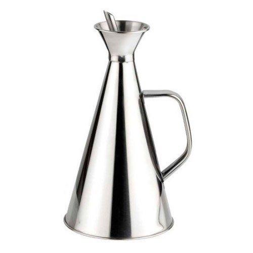Life Style - Ölspender / Ölkännchen Tropffrei - Edelstahl - Silber - 1L