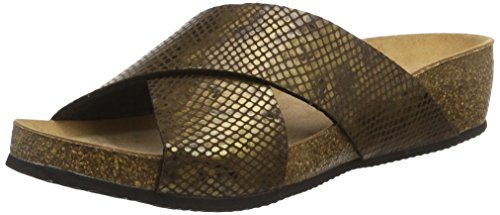 Gabor Home Ee-48-001, Sandales  Bout ouvert femme Gold (oro-vieja)