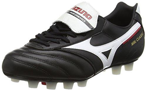 Mizuno Sneakers Football Morelia Classic MD, Black (Black/White/Red), EU 45 ( UK 10.5)