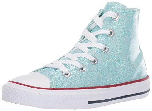 Converse Unisex-Kinder Chuck Taylor All Star Hohe Sneaker Türkis (Teal Tint/Enamel Red/White 000) 29 EU