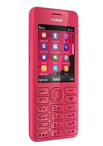 Nokia Asha 206 Dual-SIM Smartphone (6,1 cm (2,4 Zoll) Display, 1,3 Megapixel Kamera) magenta
