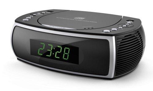 ROXX Radiowecker mit Radio, CD, USB Ladefunktion und 2 Weckzeiten CR501 schwarz