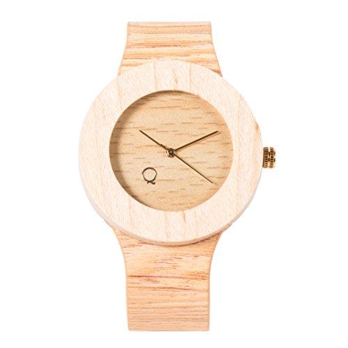seQoya - Stone | Reloj de madera con esfera de...