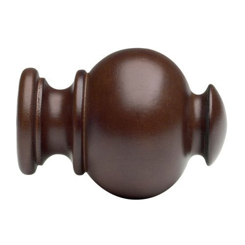 Wood Button Ball Finials for 1 3/8\