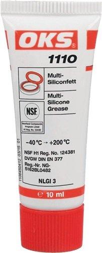 Preisvergleich Produktbild OKS Multi-Silikonfett OKS 1110 10ml NSF-H1, DVGW, NLGI-Klasse 3