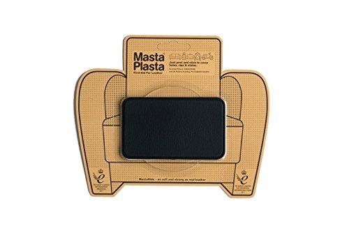 MastaPlasta Leder-Reparaturflicken, selbstklebend, Schwarz Größe/Design wählbar Erste-Hilfe für Sofas, Autositze, Handtaschen, Jacken etc. -