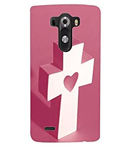 ColourCraft Holy Cross Design Back Case Cover for LG G3
