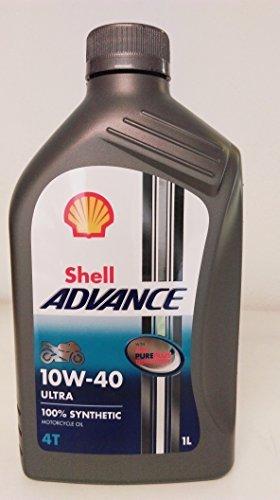 Royal Dutch Shell Schmiermittel 550044447 Shell Advance 4T Ultra synthetisches Motorrad Öl, 10 - Shell öl Motorrad