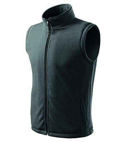OwnDesigner by Adler Herren Fleeceweste Outdoor Pullover Fleece (Grau, L)