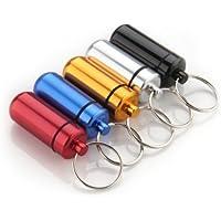 Pillendose aus Aluminium Fall Flasche Halter Container Schlüsselbund preisvergleich bei billige-tabletten.eu