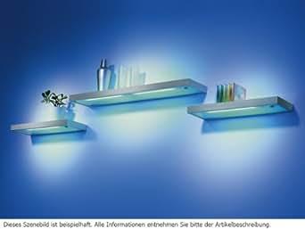thebo e 8000 19867 t5 glasbodenleuchte aluminium wandregal glasbodenregal beleuchtung. Black Bedroom Furniture Sets. Home Design Ideas