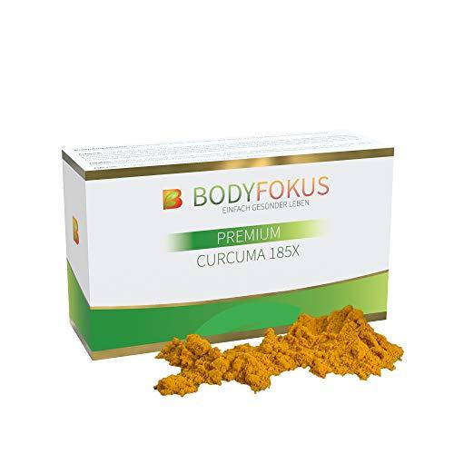 BodyFokus Premium Curcuma 185X | Hochdosierter Kurkuma-Extrakt | Mizellentechnologie - Extrakt Antioxidantien-formel