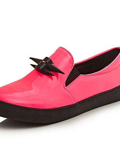 ZQ gyht Scarpe Donna - Mocassini - Tempo libero / Casual - Comoda / Punta arrotondata - Piatto - Vernice - Nero / Rosa , pink-us10.5 / eu42 / uk8.5 / cn43 , pink-us10.5 / eu42 / uk8.5 / cn43 pink-us5.5 / eu36 / uk3.5 / cn35