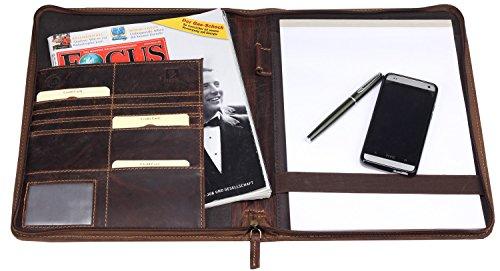 Greenburry Vintage Manager Dokumappe für A4 Hefte geeignet
