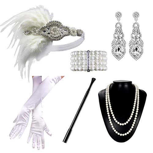 1920s Flapper Accessories Set Wo...