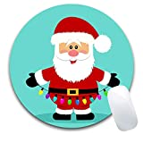 AieniD Mousepad Pink Weihnachtsmuster Mehrfarbig Mauspad Size:240X200X3MM