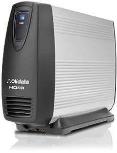 2000 GB / 2 TB OLIDATA HDMI Multimedia Festplatte MediaPlayer ohne Lüfter und externe USB-Festplatte. Mit HDMI, SCART, Component, Composite AV und Koaxial digital Audio Ausgang.