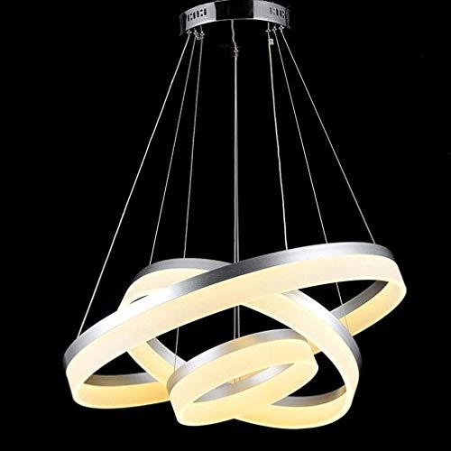 Eisen-drei-licht-eitelkeit (Wunderschönen Drei-Ring-LED-Kronleuchter Modernen Luxus Höhenverstellbare Elegante Acryl Eisen Metall Kronleuchter Wohnzimmer Esszimmer Schlafzimmer Deckenleuchte Warmes Licht 3000 Machen Sie Ihr Zuha)