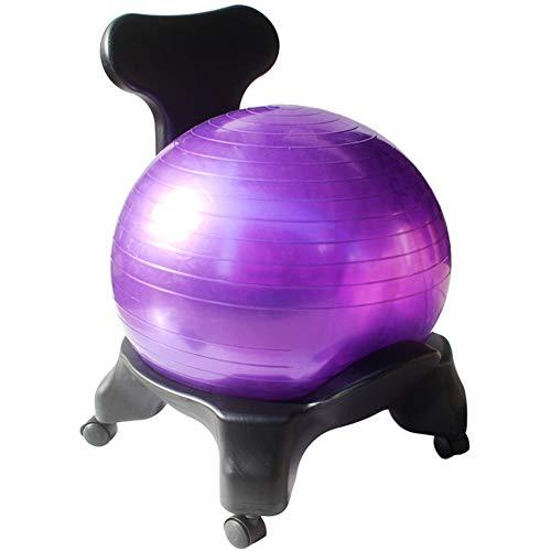 XUE Ball-Vorsitzende, Premium Fitness Übung Ball-Vorsitzenden für zu Hause mit 2000lbs Static Strength Ball Great Office Desk Chair and Stability Ball Chair for Men & Women (Stability Ball Chair)
