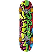 Gemgo 9 Plies Maple Deck Sturdy Skateboard with Doodle Pattern