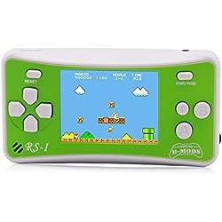 """E-WOR Console de Jeux vidéo Portable rétro 8 Bits avec 162 Jeux - Écran LCD de 2.5"""" Vert(Green)"""