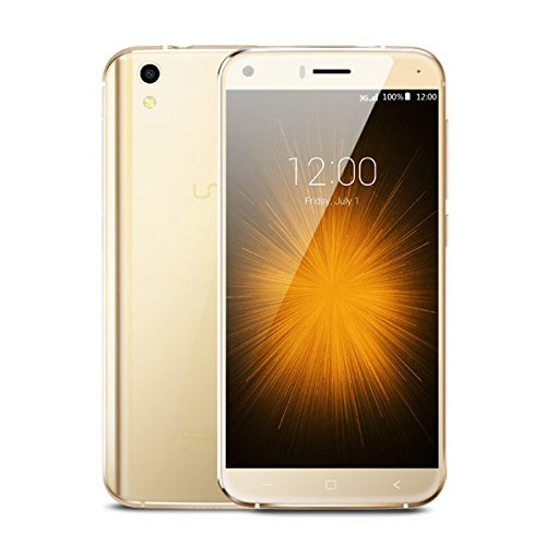 UMIDIGI 3G London Smartphone PAS CHER 5.0 pouces Android 6.0 1GB RAM 8GB ROM CPU MT6580 Quad Core 1.3Ghz Double SIM 2MP/8MP Caméra SONY Batterie 2050 mAh - Or