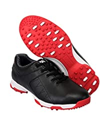 FUBULE Zapatos de Golf a Prueba de Agua Picos Menos Zapatos Anti Deslizamiento Resistencia a la abrasión rotar botón multifunción al Aire Libre