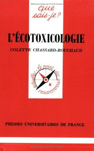 L'Ecotoxicologie