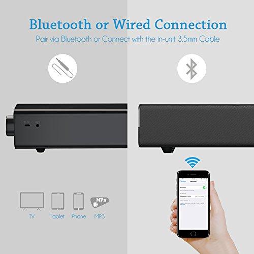 Zoom IMG-2 soundbar bluetooth portatile 20w 38cm