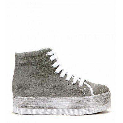 JEFFREY CAMPBELL EPLAY HOMG SUEDE WASH Grigio
