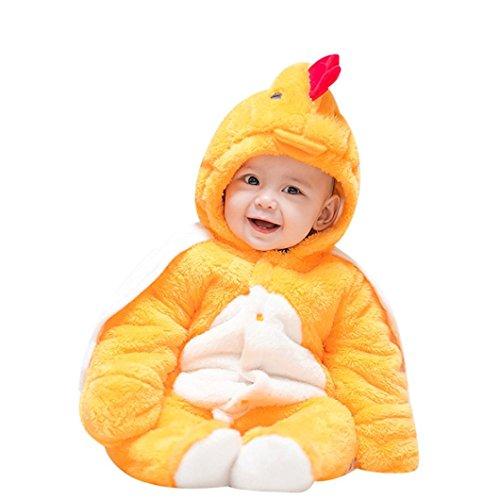 URSING Kleinkind Baby Jungen Mädchen Dick Warm Karikatur Tier Kapuzenpullover Strampelhöschen Neugeborenen Weich Strampelanzug mit Hütte Outfit Strampler Modisch übergang overall (6M, (Bären Kostüm Honig)