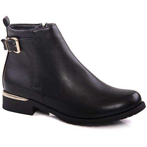 Unze Pull Femmes Tessa 'On Bottes d'hiver Noir