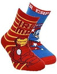 Suncity Pack 2 calcetines Los Vengadores Avengers Ironman y Capitán América ...