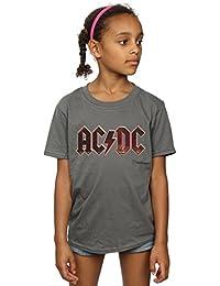 AC/DC Girls Logo Raw Distressed T-Shirt