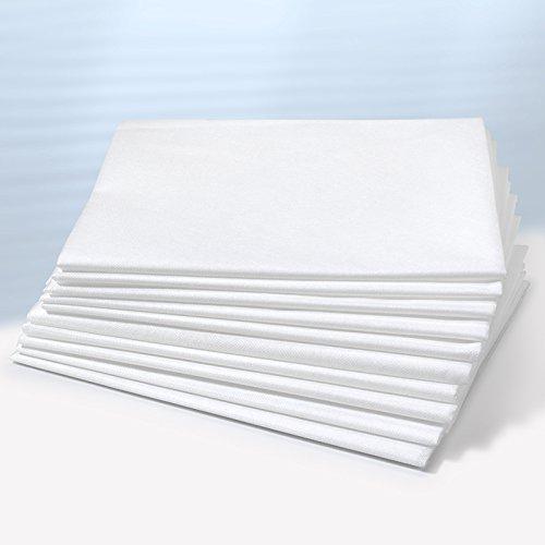 Waschfaserlaken PLUS PREMIUM (400x waschbar) 80×210 cm 1 Stück weiß – OEKO-TEX® geprüft – ORIGINAL Dr. Güstel – Vlieslaken, Vliestuch, Hygiene-Auflage - 5